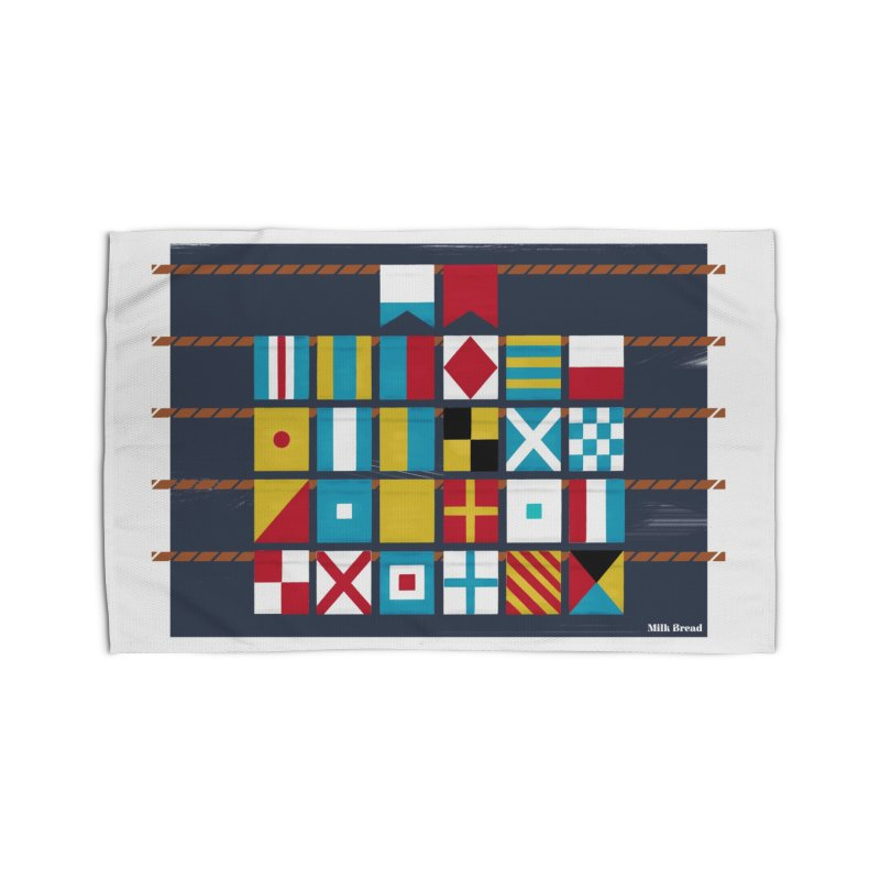 Nautical Flag Alphabet Home Rug by Milk Bread