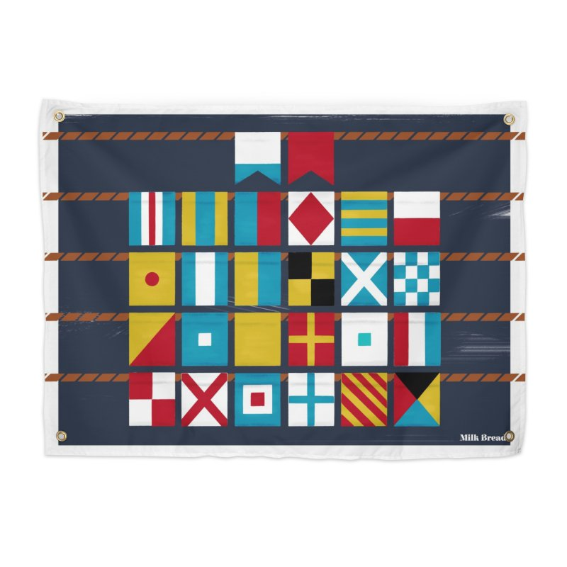 Nautical Flag Alphabet Home Tapestry by Milk Bread
