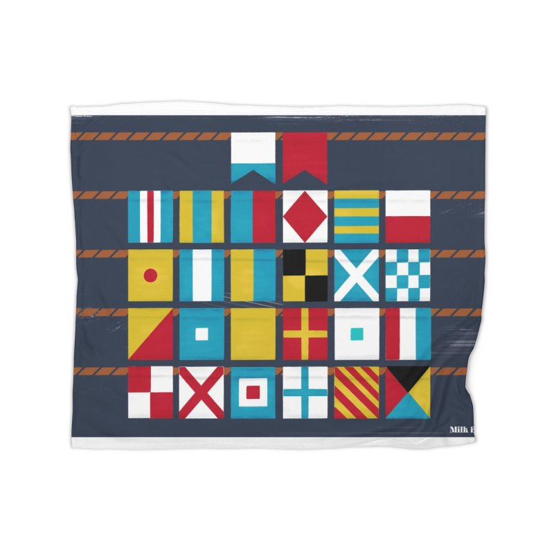 Nautical Flag Alphabet Home Blanket by Milk Bread