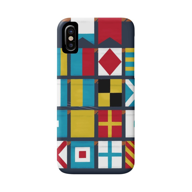 Nautical Flag Alphabet Accessories Phone Case by Milk Bread