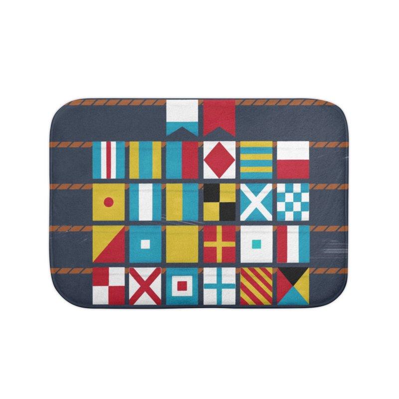 Nautical Flag Alphabet Home Bath Mat by Milk Bread