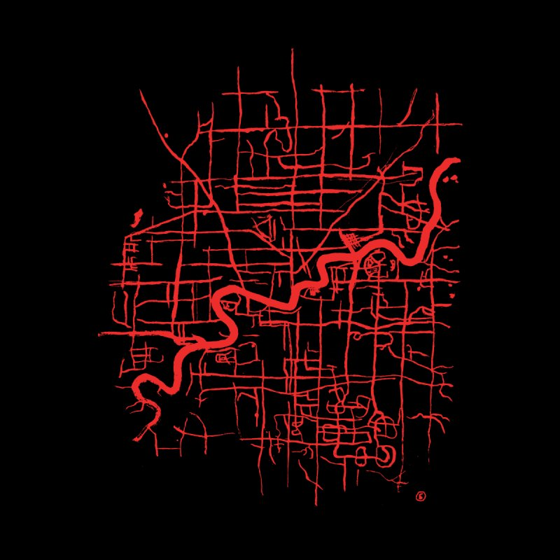 Map of Edmonton by MILKHORSE