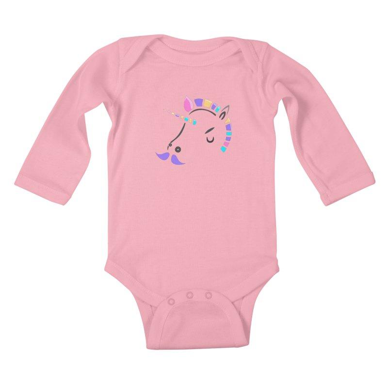 UNICORN - SINCE FOREVER Kids Baby Longsleeve Bodysuit by milky's Artist Shop