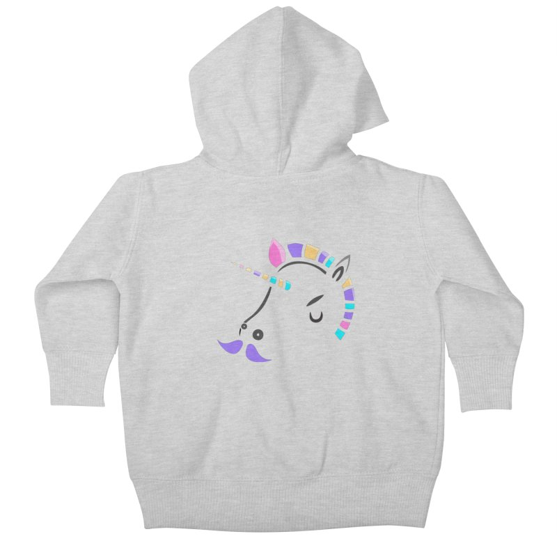 UNICORN - SINCE FOREVER Kids Baby Zip-Up Hoody by milky's Artist Shop