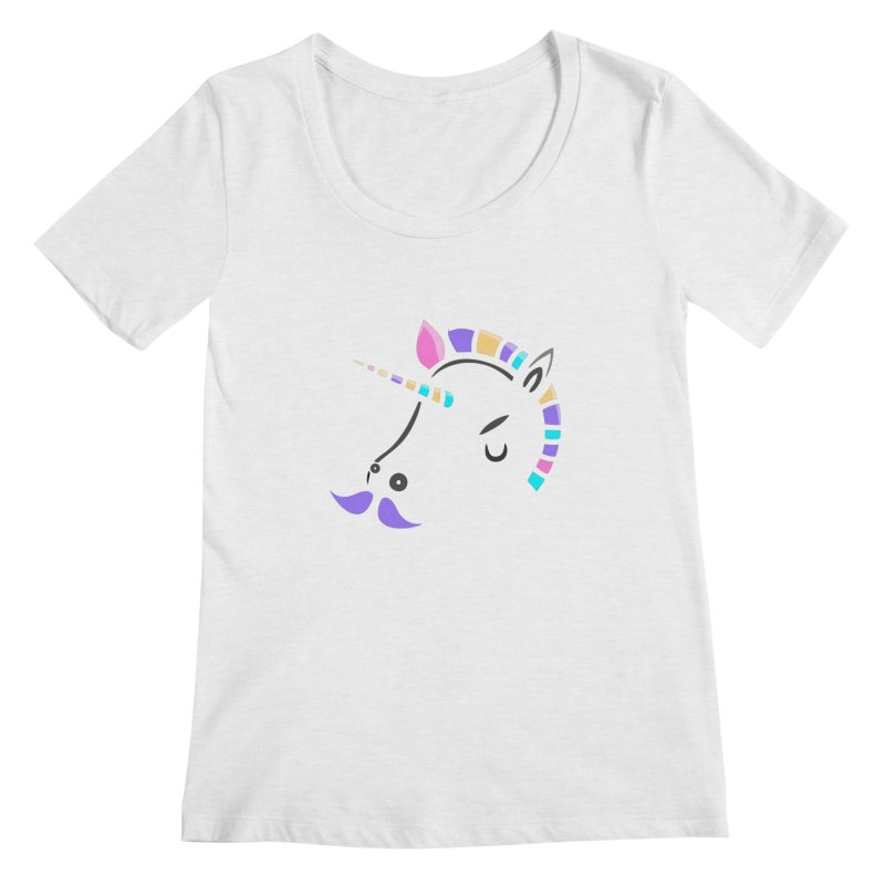 UNICORN - SINCE FOREVER Women's Scoopneck by milky's Artist Shop