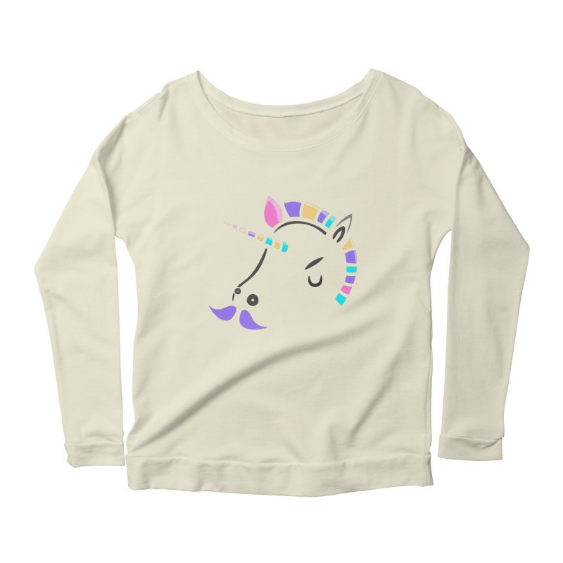 UNICORN - SINCE FOREVER Women's Longsleeve Scoopneck  by milky's Artist Shop
