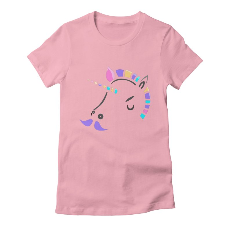 UNICORN - SINCE FOREVER Women's Fitted T-Shirt by milky's Artist Shop