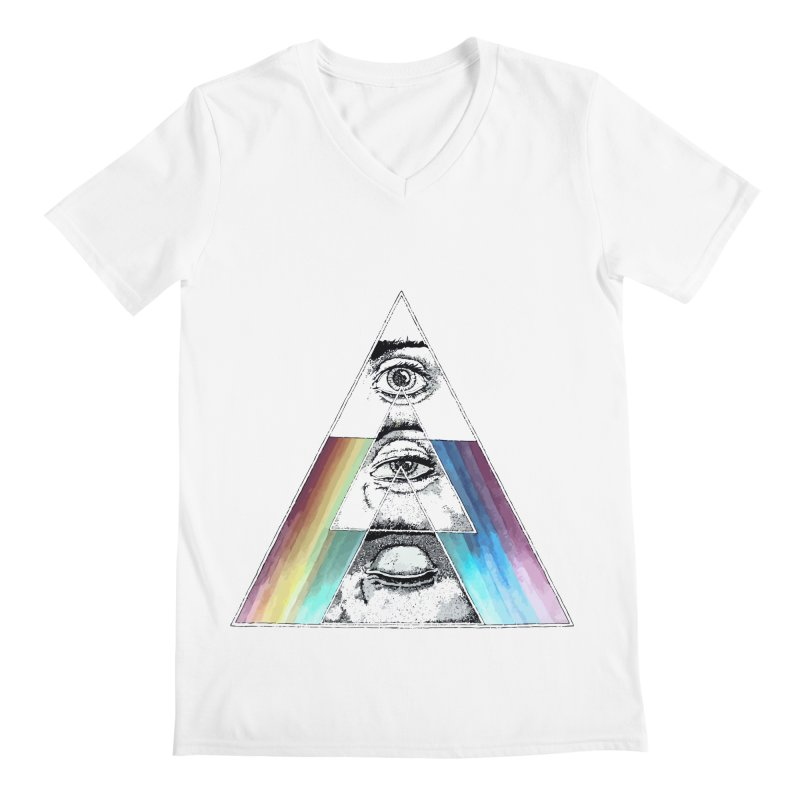 We are Watching you ! Men's V-Neck by milky's Artist Shop