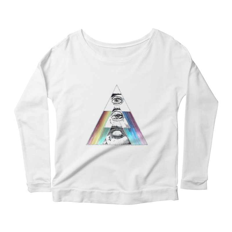We are Watching you ! Women's Longsleeve Scoopneck  by milky's Artist Shop