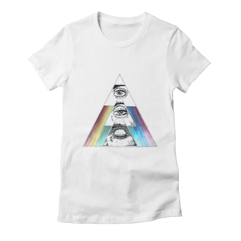 We are Watching you ! Women's Fitted T-Shirt by milky's Artist Shop