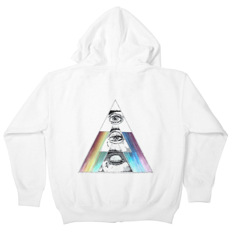 We are Watching you ! Kids Zip-Up Hoody by milky's Artist Shop
