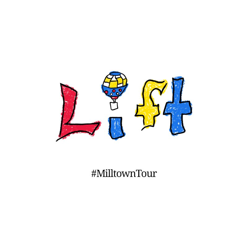 LIFT Logo with hashtag Women's T-Shirt by Milltown Tour's Artist Shop