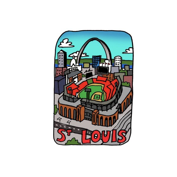 Design for St. Louis Ballpark Illustration