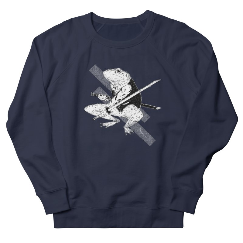 Samurai Toad Men's French Terry Sweatshirt by miltondidi's Artist Shop