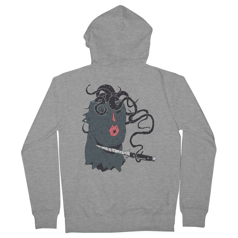 Thinking is Dangerous  Women's French Terry Zip-Up Hoody by miltondidi's Artist Shop