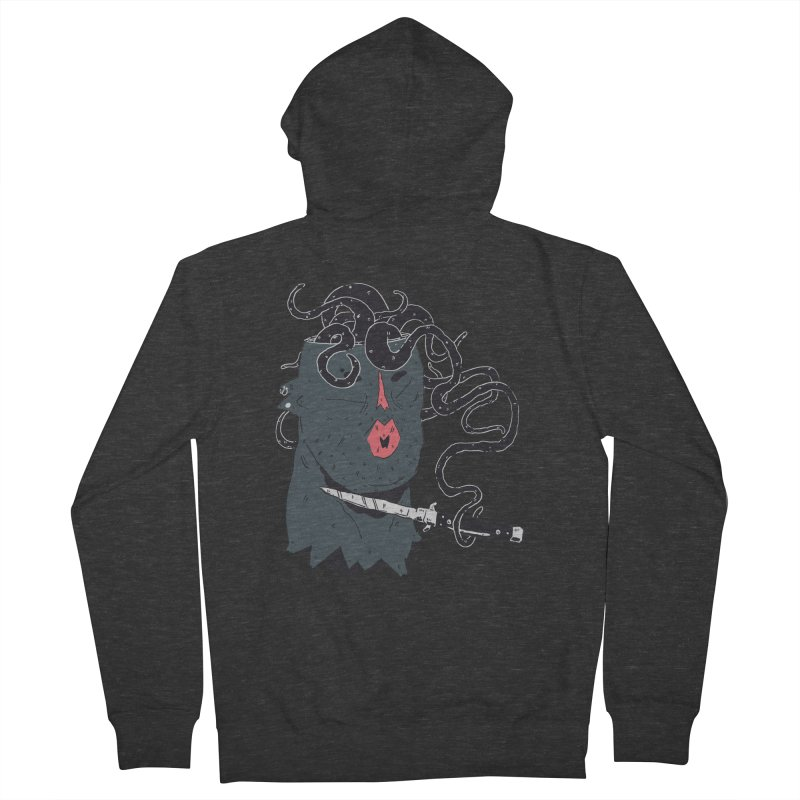 Thinking is Dangerous  Men's French Terry Zip-Up Hoody by miltondidi's Artist Shop