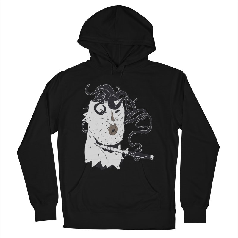 Danger Thoughts (B&W) Men's French Terry Pullover Hoody by miltondidi's Artist Shop