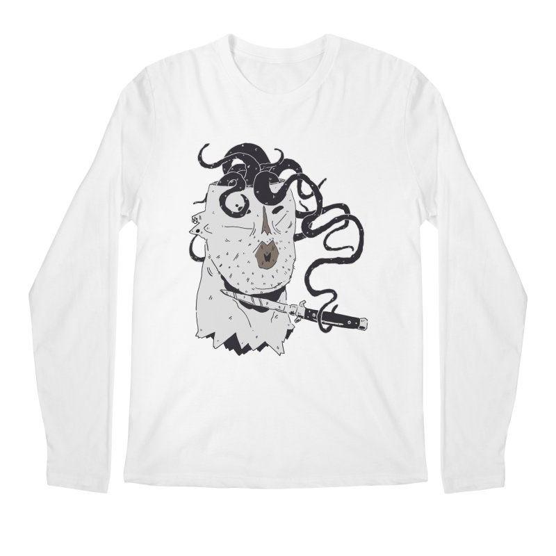 Danger Thoughts (B&W) Men's Regular Longsleeve T-Shirt by miltondidi's Artist Shop