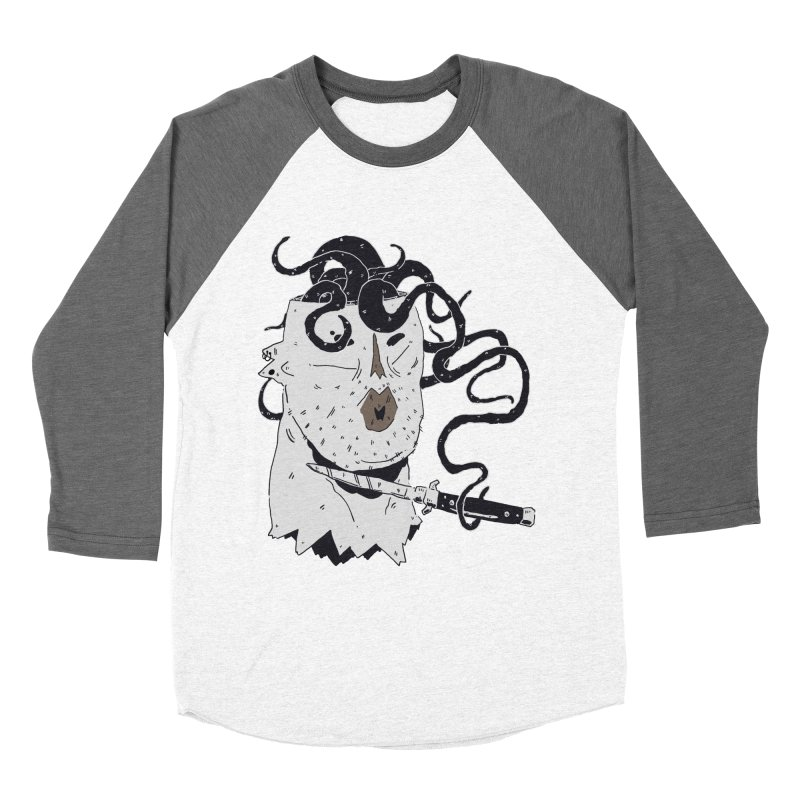 Danger Thoughts (B&W) Women's Baseball Triblend Longsleeve T-Shirt by miltondidi's Artist Shop