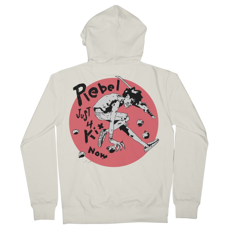 Rebel 4 kix Men's French Terry Zip-Up Hoody by miltondidi's Artist Shop