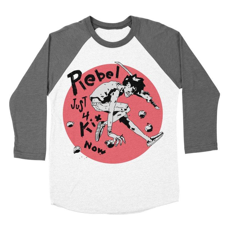 Rebel 4 kix Men's Baseball Triblend Longsleeve T-Shirt by miltondidi's Artist Shop