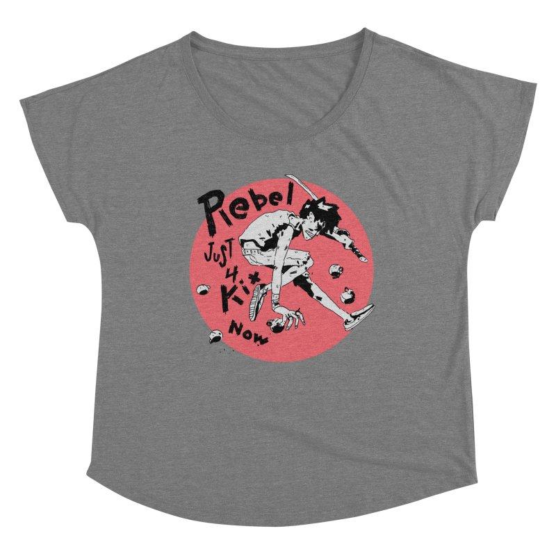 Rebel 4 kix Women's Scoop Neck by miltondidi's Artist Shop