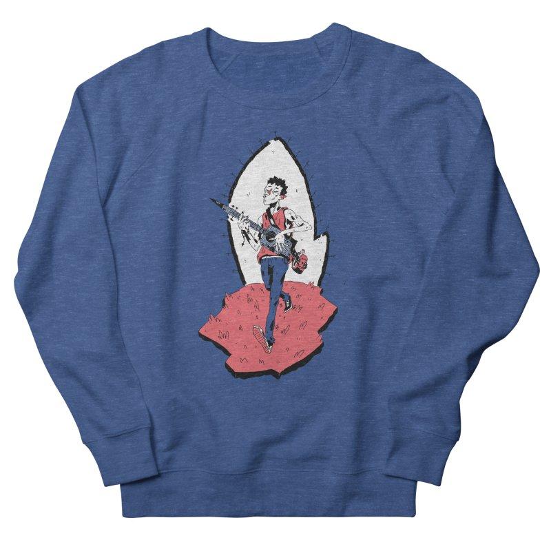 Caleb and His Vamp Slaying Uke Women's French Terry Sweatshirt by miltondidi's Artist Shop