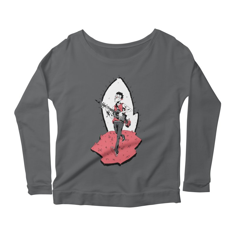 Caleb and His Vamp Slaying Uke Women's Scoop Neck Longsleeve T-Shirt by miltondidi's Artist Shop