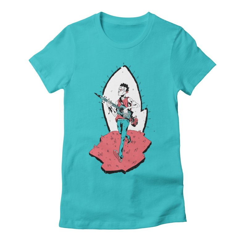 Caleb and His Vamp Slaying Uke Women's Fitted T-Shirt by miltondidi's Artist Shop