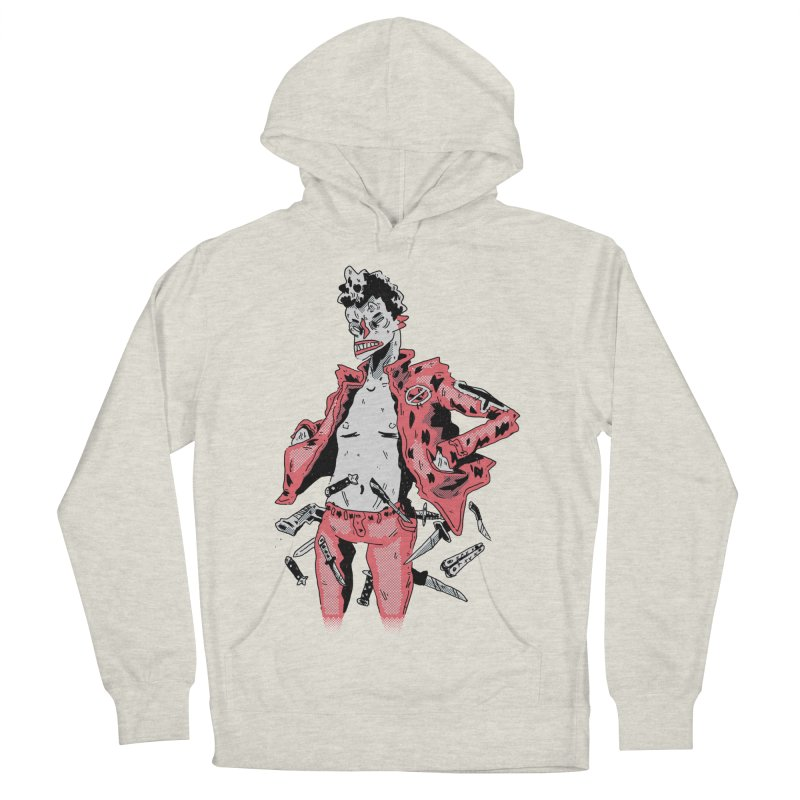 punk with knives Men's French Terry Pullover Hoody by miltondidi's Artist Shop