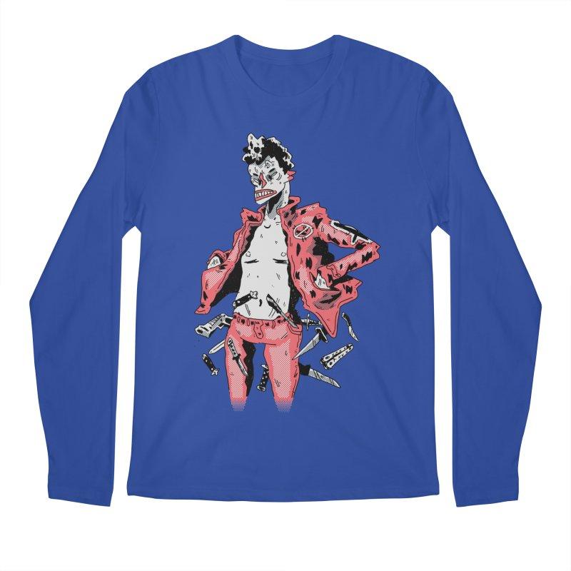 punk with knives Men's Longsleeve T-Shirt by miltondidi's Artist Shop