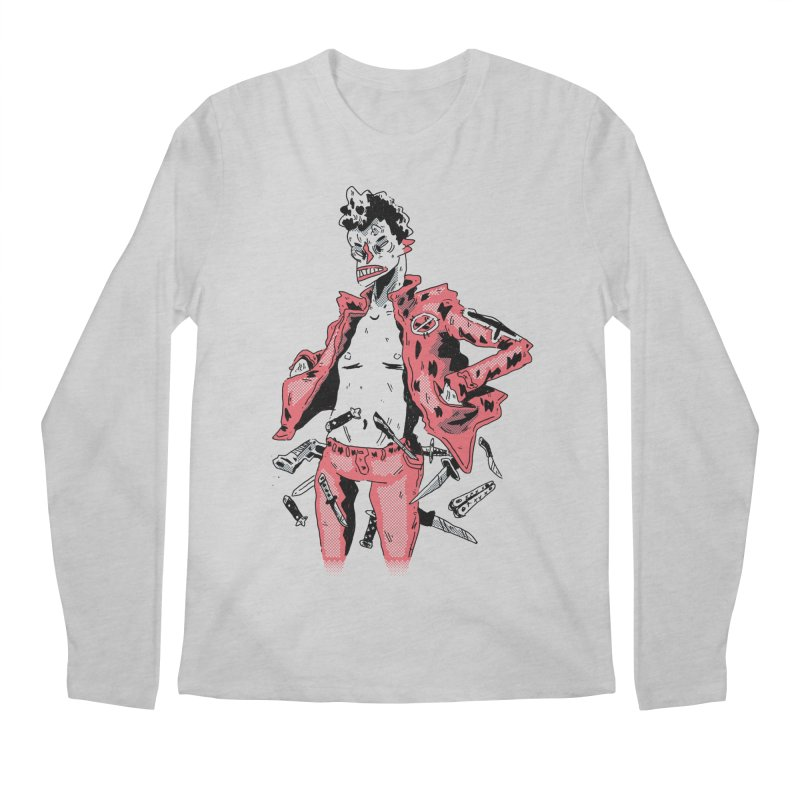 punk with knives Men's Regular Longsleeve T-Shirt by miltondidi's Artist Shop