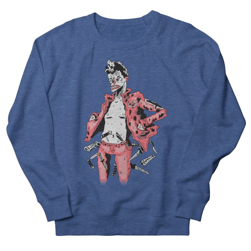 punk with knives Women's Sweatshirt by miltondidi's Artist Shop