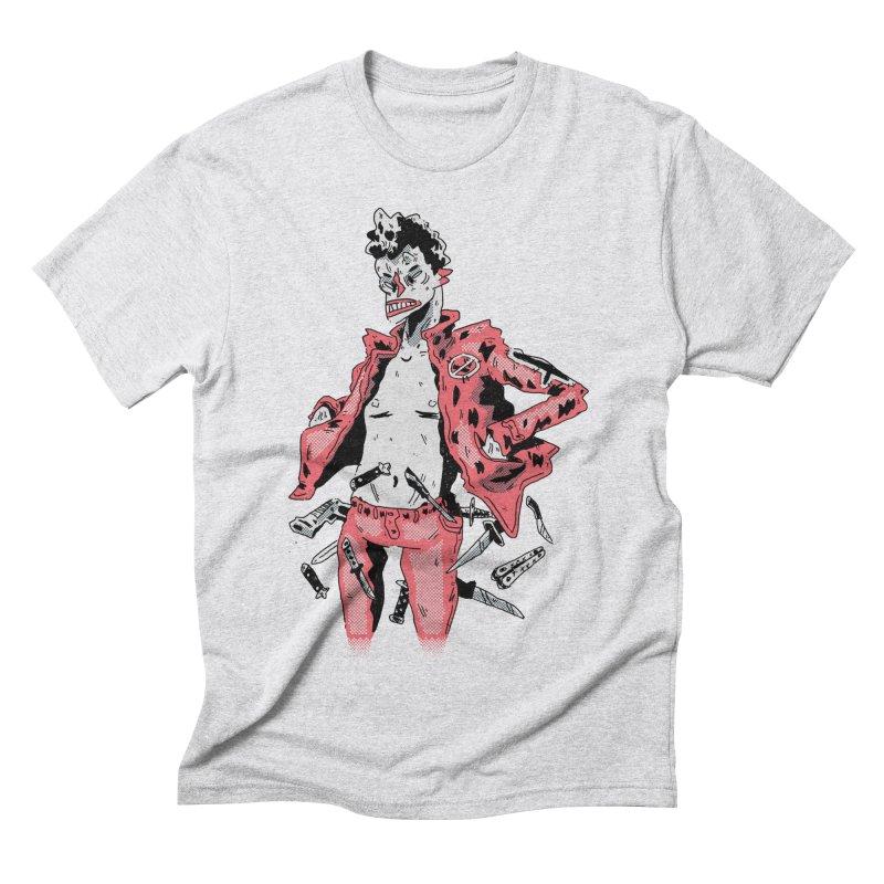 punk with knives Men's Triblend T-Shirt by miltondidi's Artist Shop