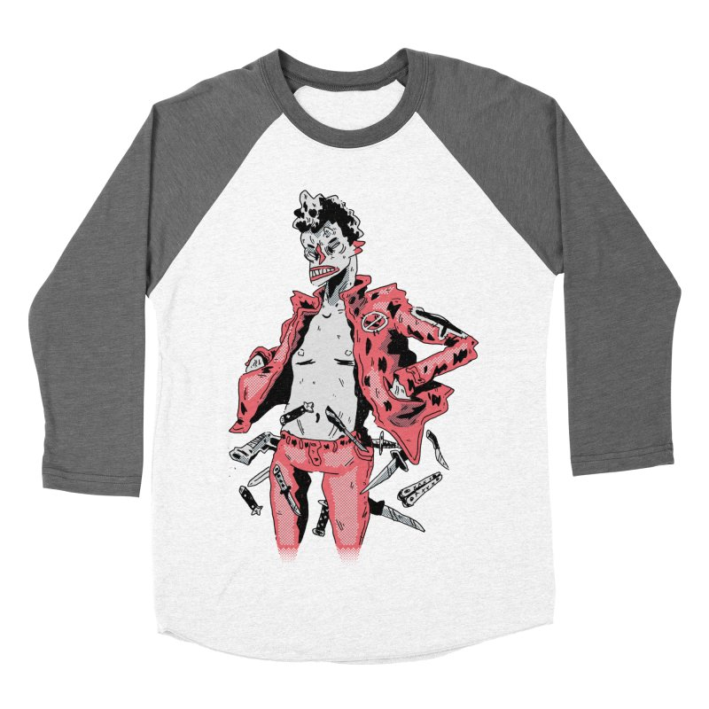 punk with knives Men's Baseball Triblend Longsleeve T-Shirt by miltondidi's Artist Shop