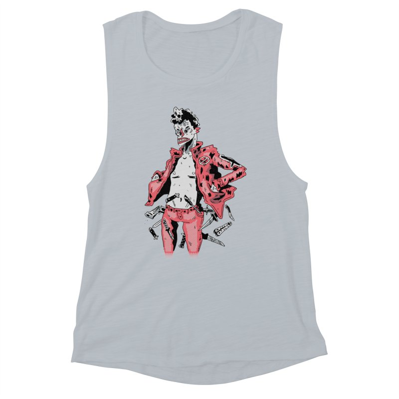 punk with knives Women's Muscle Tank by miltondidi's Artist Shop