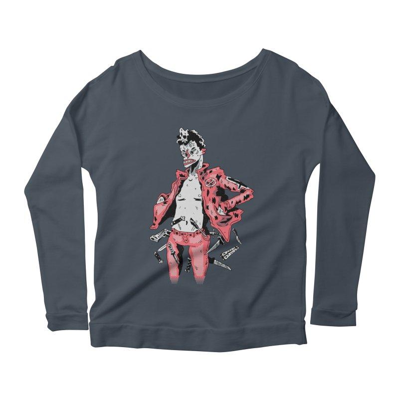 punk with knives Women's Scoop Neck Longsleeve T-Shirt by miltondidi's Artist Shop
