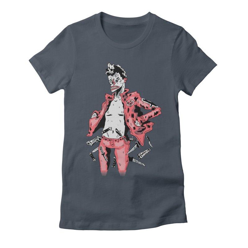 punk with knives Women's T-Shirt by miltondidi's Artist Shop