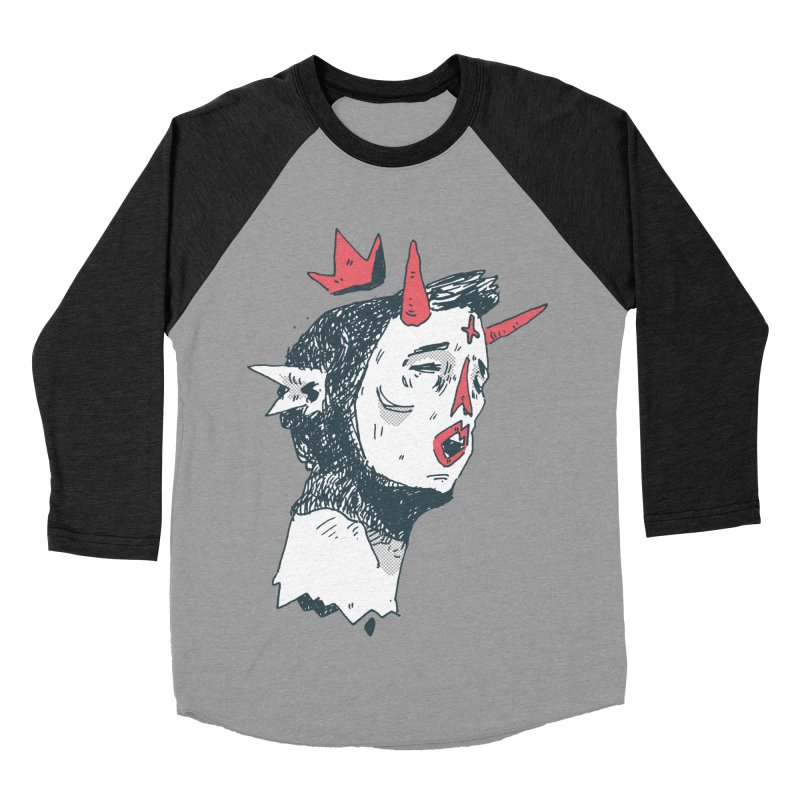 Prince Of Horns  Women's Baseball Triblend Longsleeve T-Shirt by miltondidi's Artist Shop