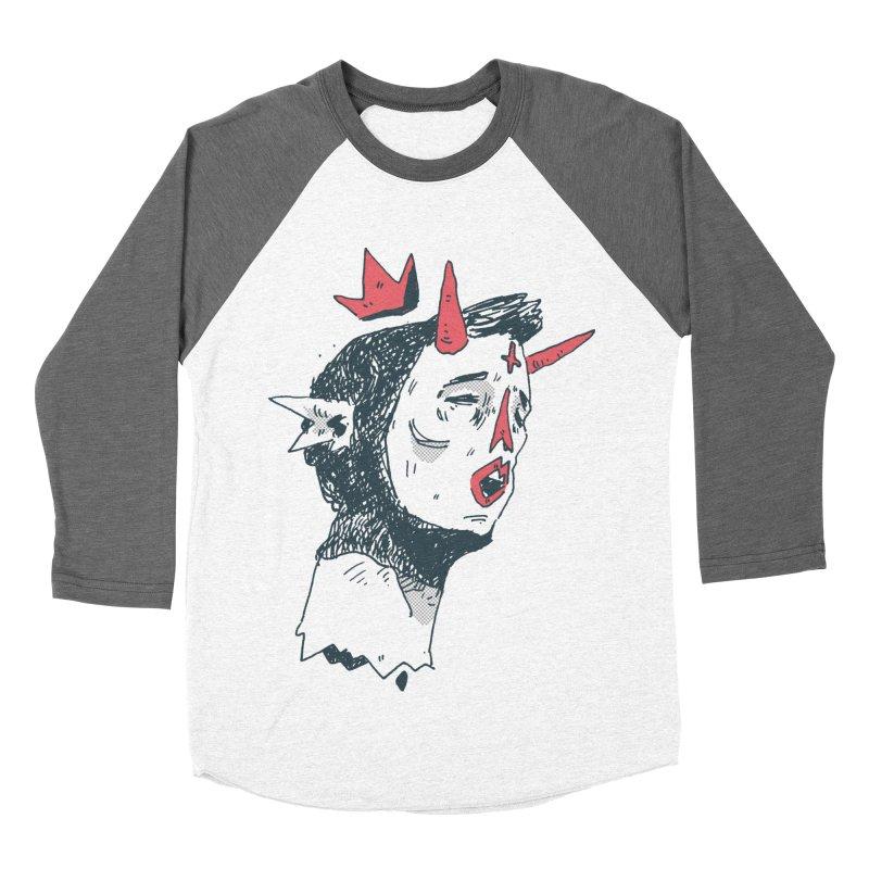 Prince Of Horns  Men's Baseball Triblend Longsleeve T-Shirt by miltondidi's Artist Shop