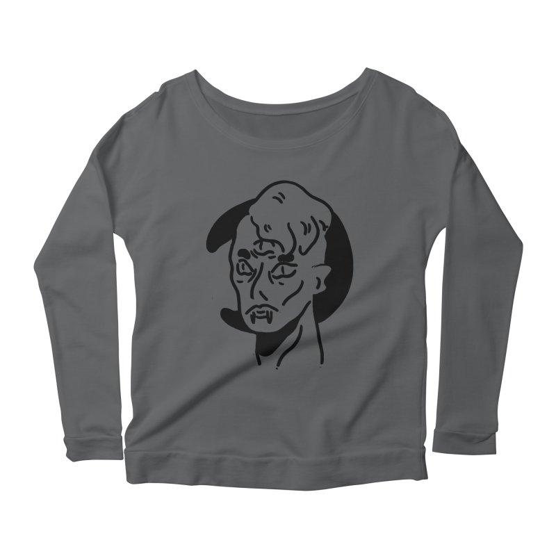 vampire nights  Women's Scoop Neck Longsleeve T-Shirt by miltondidi's Artist Shop