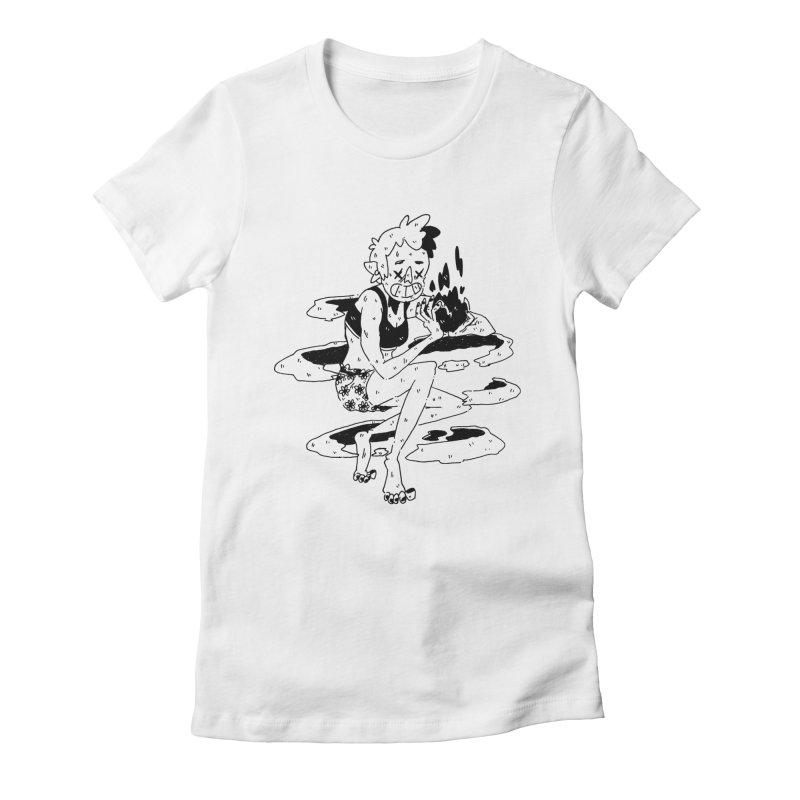 found magic in her undies Women's Fitted T-Shirt by miltondidi's Artist Shop