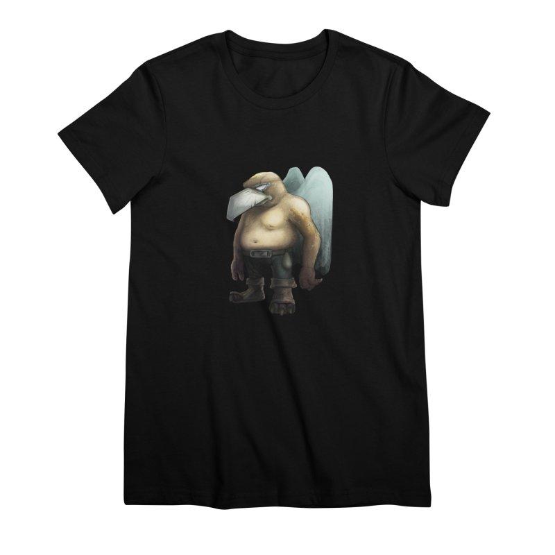 Birdman Angel 01 Women's Premium T-Shirt by miltos's Artist Shop