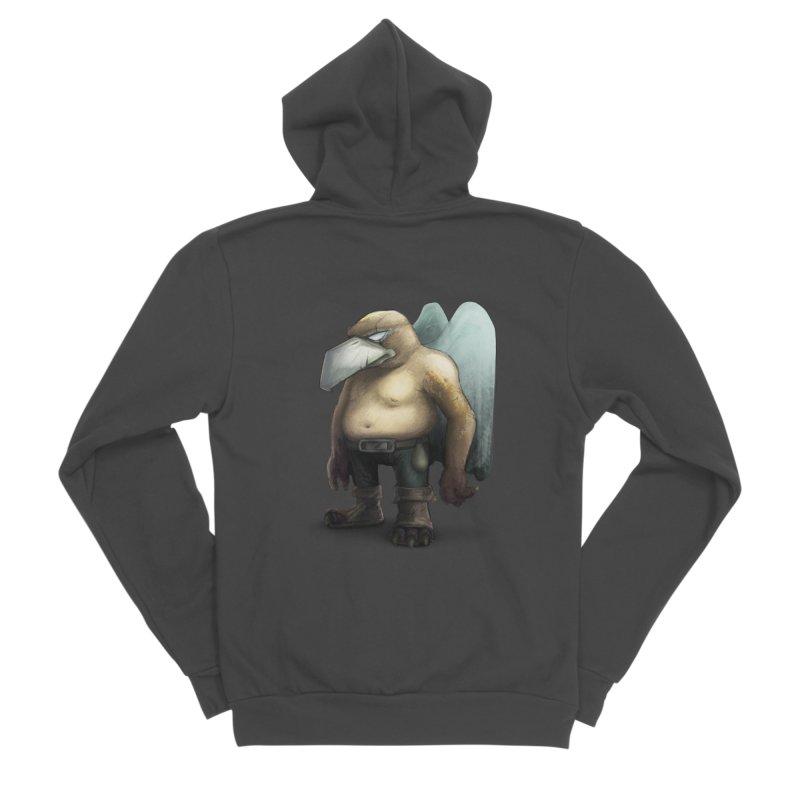 Birdman Angel 01 Men's Sponge Fleece Zip-Up Hoody by miltos's Artist Shop