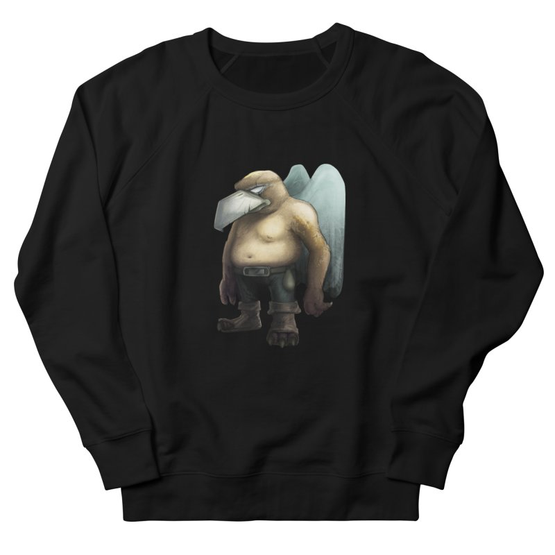Birdman Angel 01 Women's French Terry Sweatshirt by miltos's Artist Shop