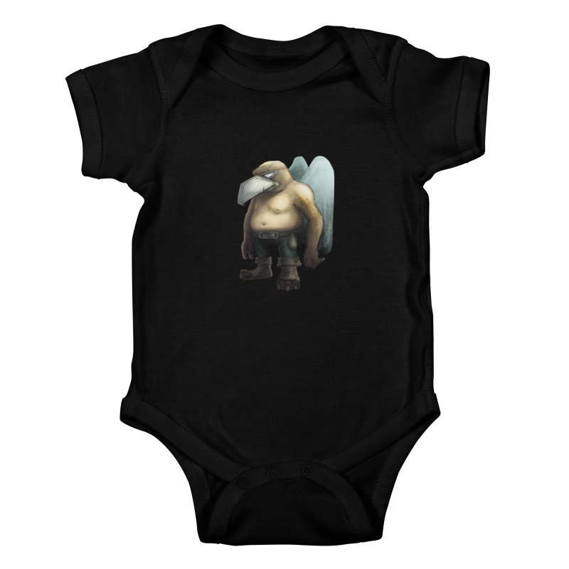 Birdman Angel 01 Kids Baby Bodysuit by miltos's Artist Shop