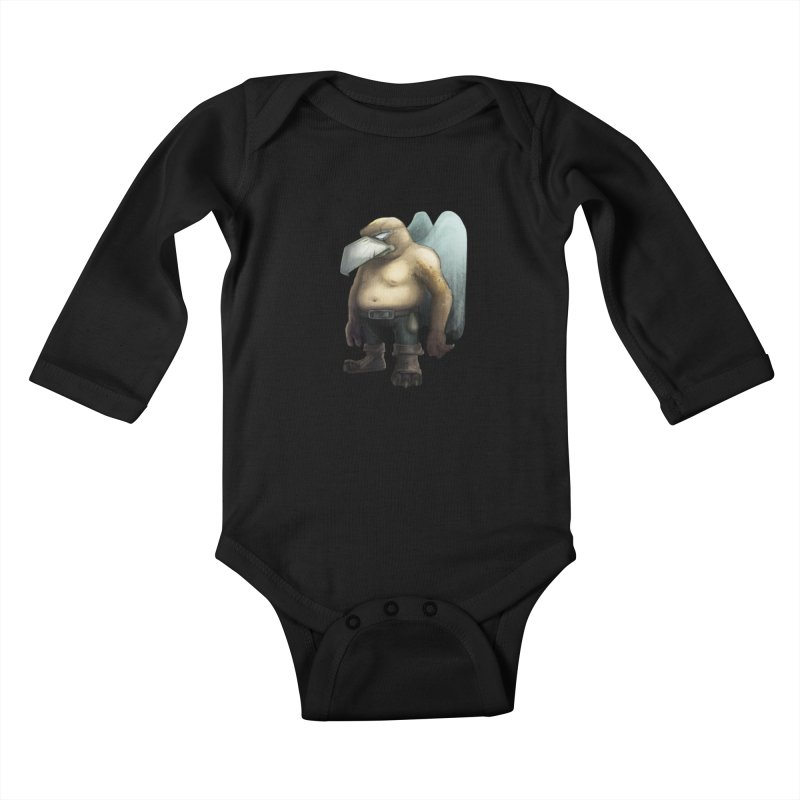 Birdman Angel 01 Kids Baby Longsleeve Bodysuit by miltos's Artist Shop