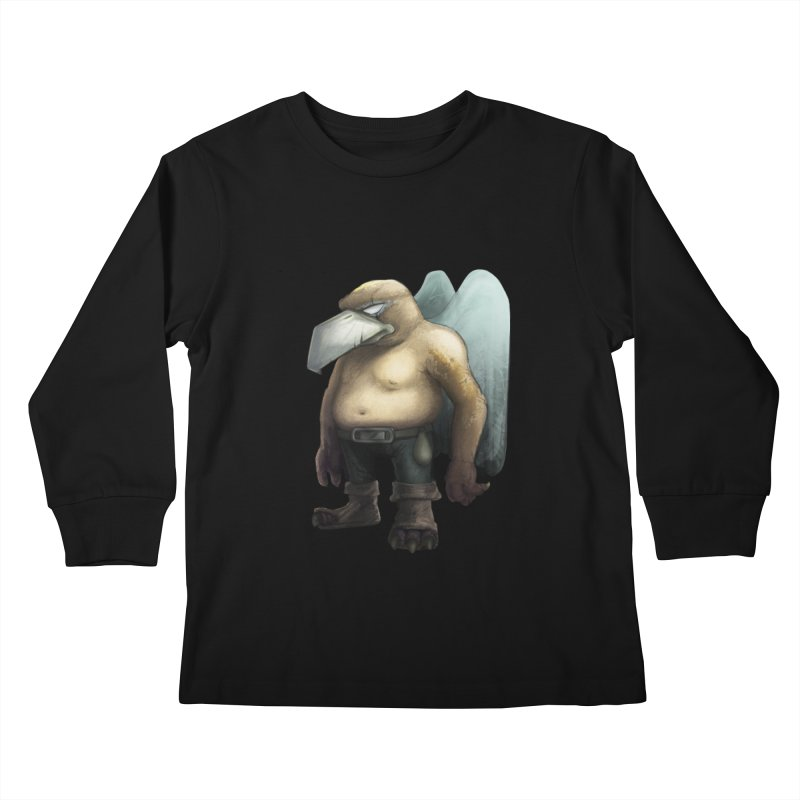 Birdman Angel 01 Kids Longsleeve T-Shirt by miltos's Artist Shop
