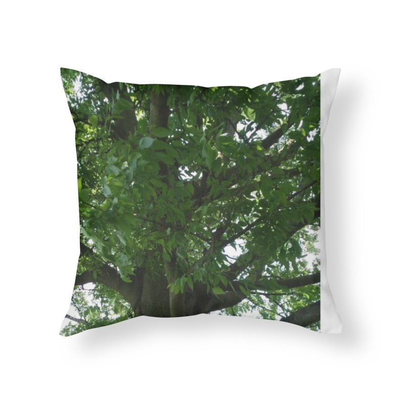 Tree Top Home Throw Pillow by Mind-art Passion