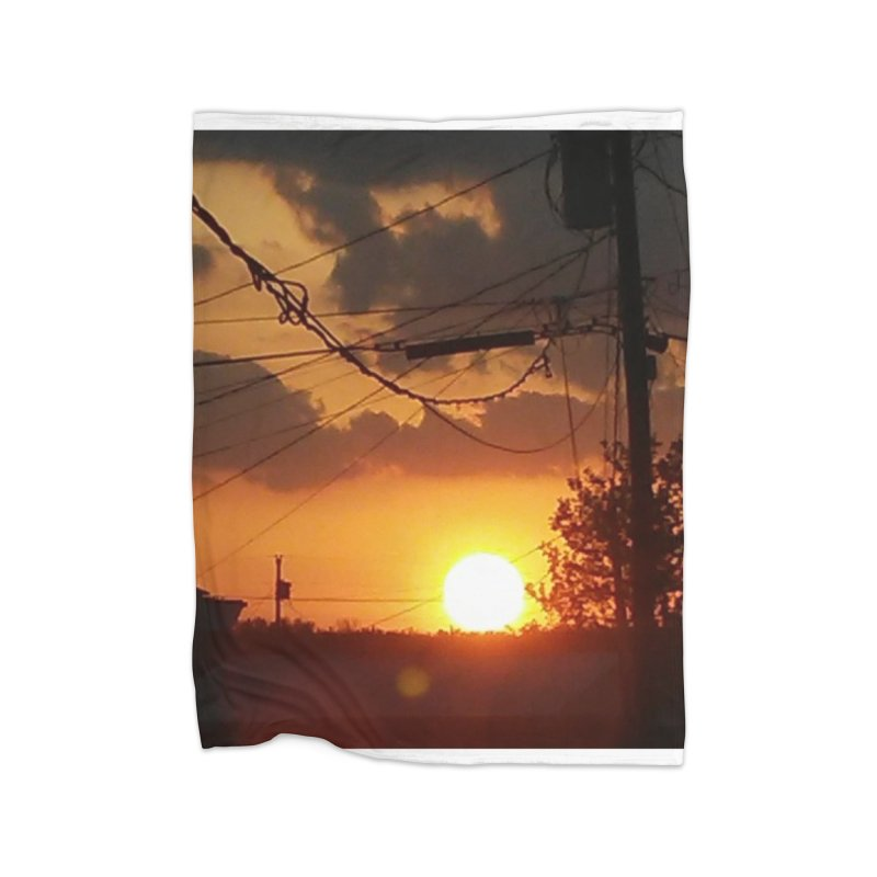 Sunset in the City Home Blanket by Mind-art Passion
